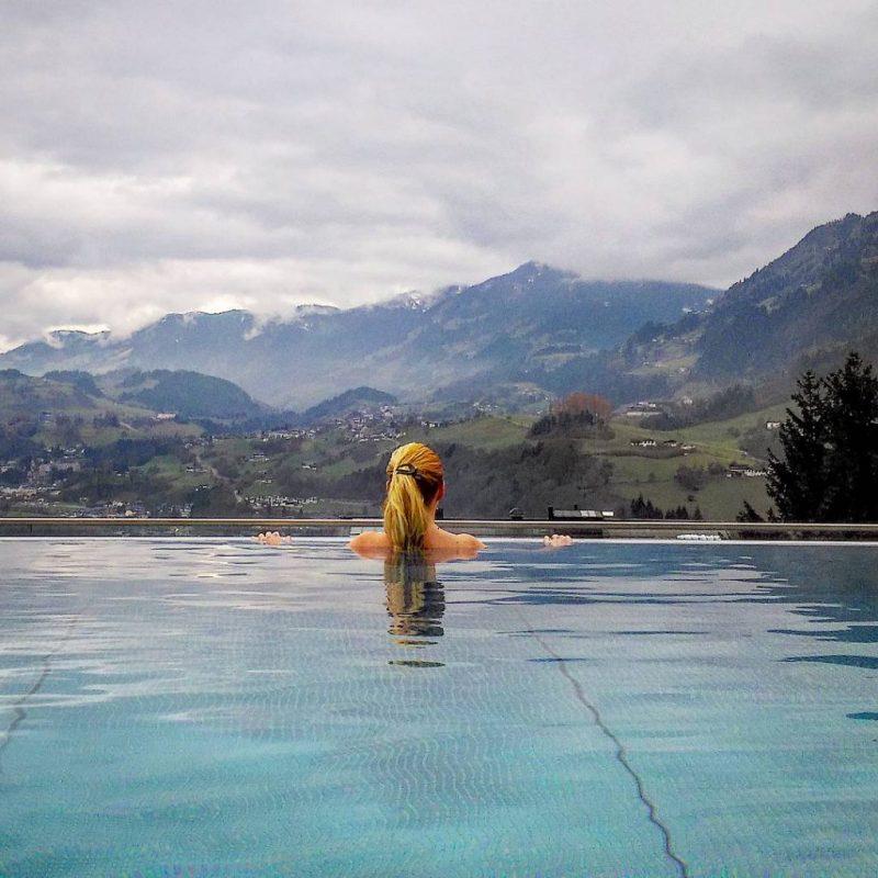 Infinity pool Alpina Family, Spa Sporthotel