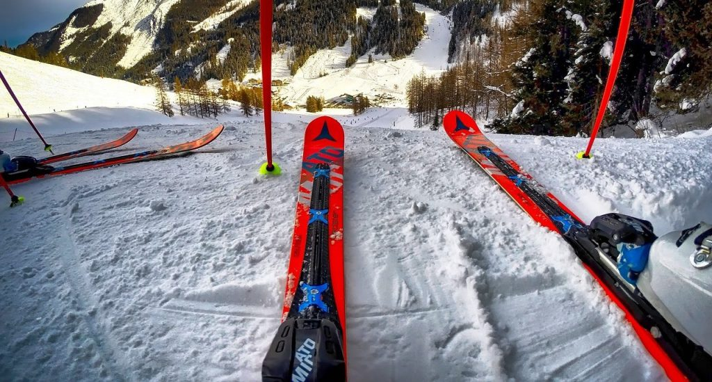 Skiing Hinterglemm Austria
