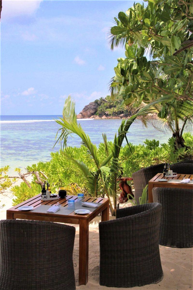 Kempinski Seychelles beach restaurant