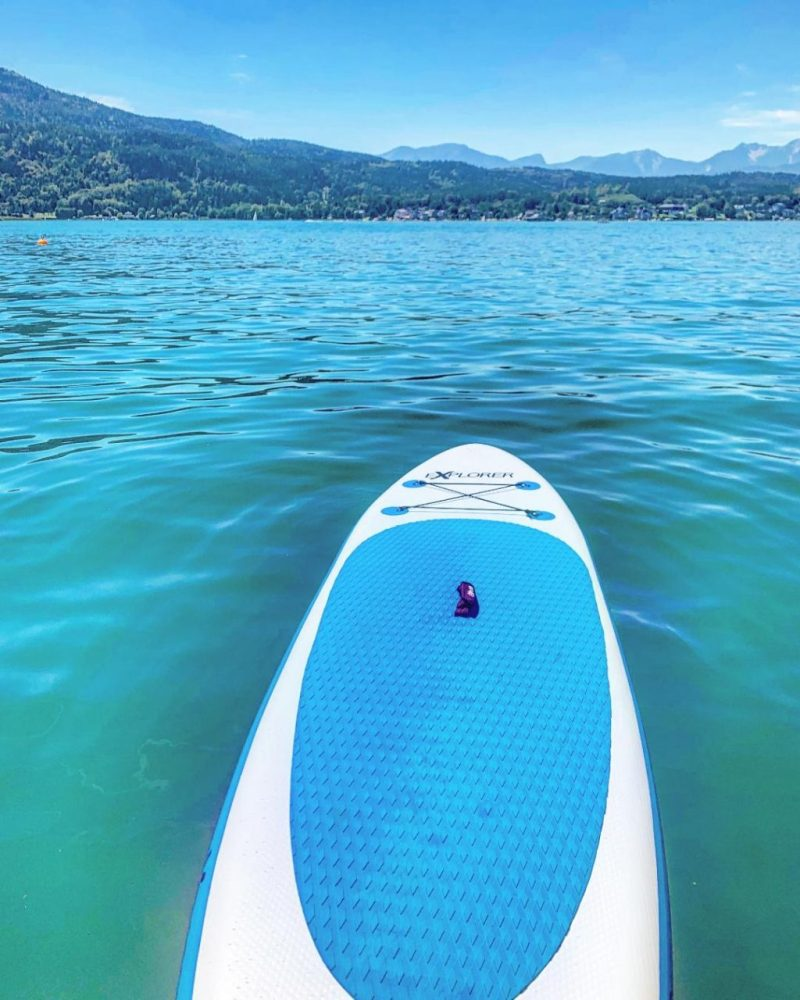 Stand up paddle boarding Woerthersee